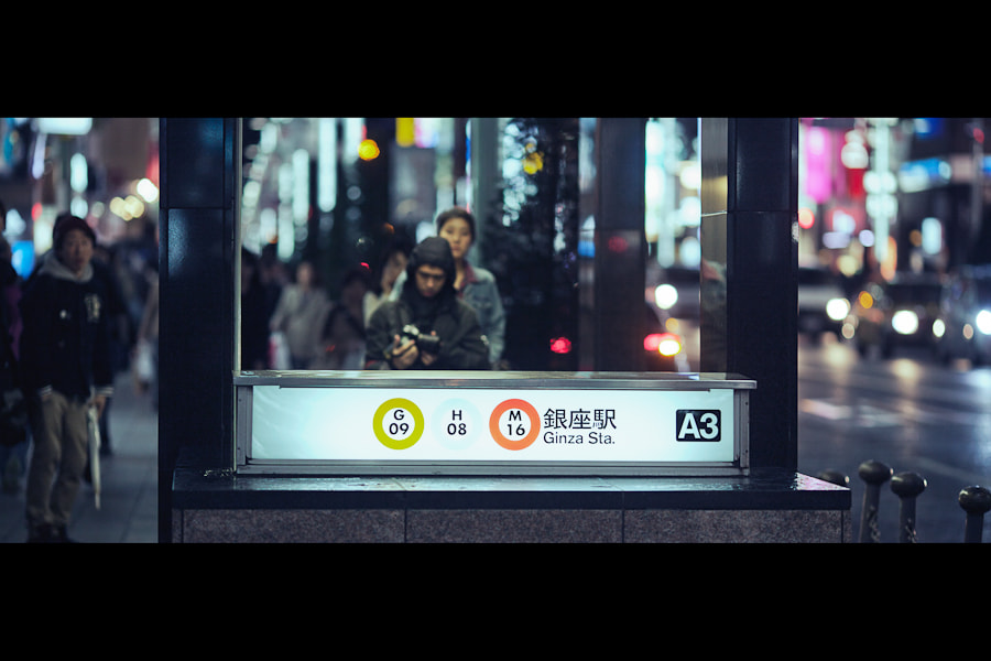 Photograph Entering Ginza Station by Loic Labranche on 500px