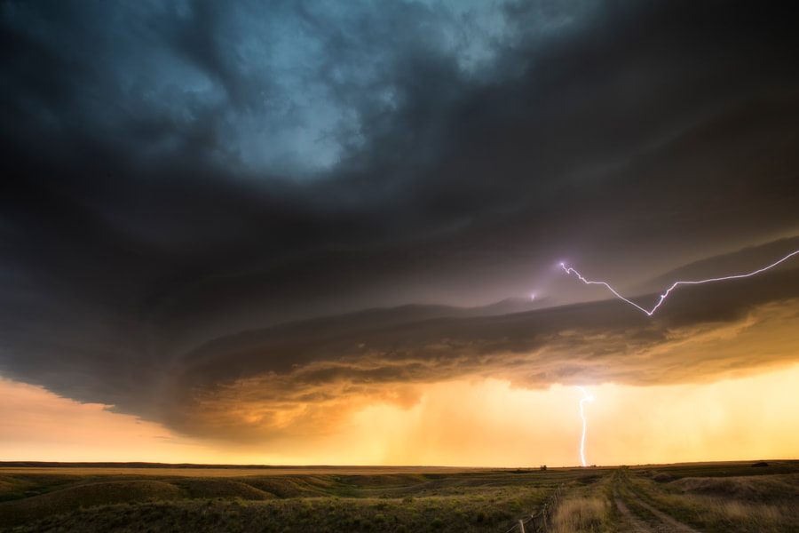 Photograph Supercell on the edge of the Badlands by Kelly DeLay on 500px