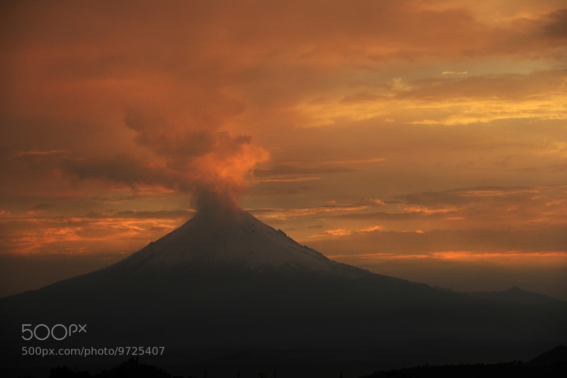 Photograph Smoking volcano at sunset by Cristobal Garciaferro Rubio on 500px