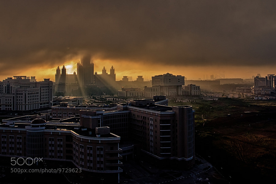 Moscow Morning by Vitaly Medvedev (vitosh) on 500px.com