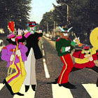 ������, ������: sgt pepper band dancing in abbey road