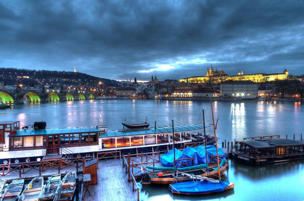 Photograph Dusk on the Vltava by Alex Brown on 500px