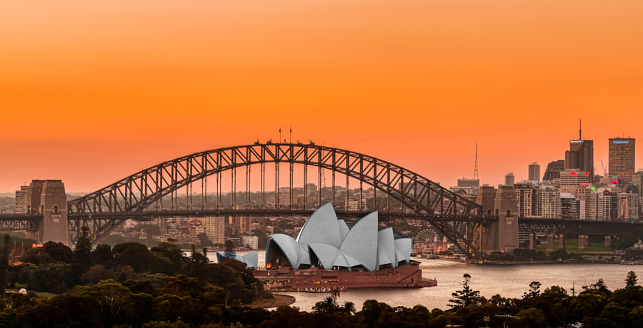 Photograph Sydney Sunset by Declan Keane on 500px