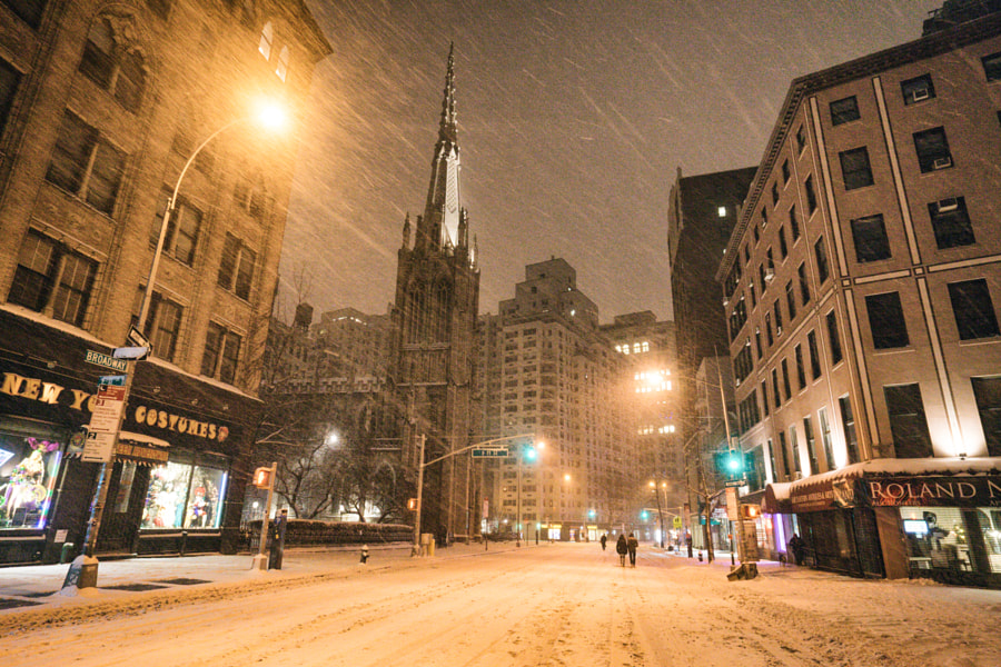 Photograph New York City Snow  - Winter Storm Juno -  Empty Broadway by Vivienne Gucwa on 500px