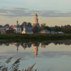 Постер, плакат: Calm Water of Kamenka River in Suzdal