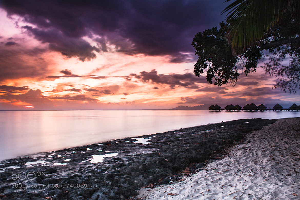 Photograph Sunset over Moorea by Roger Uceda Molera on 500px