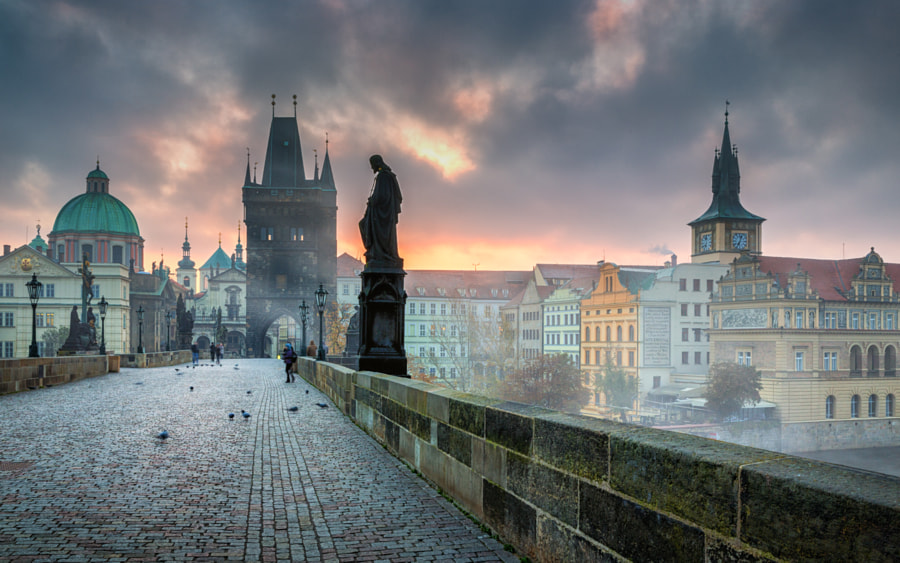 Photograph Foggy Sunrise in Prague by Adrian Popan on 500px