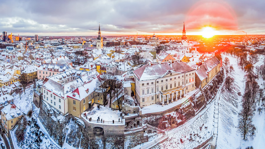Photograph Winter and sunset at old Tallinn by Kaupo Kalda on 500px