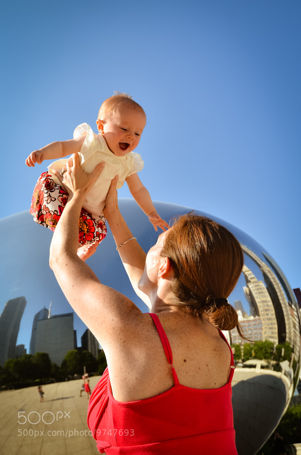 Mommy and baby at the bean