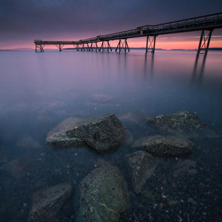 Rocks by the Sidney pier