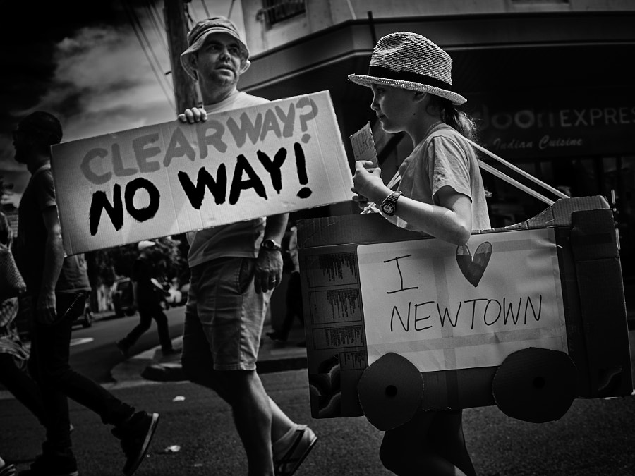 Photograph Newtown West Connex Protest by Travis Chau on 500px