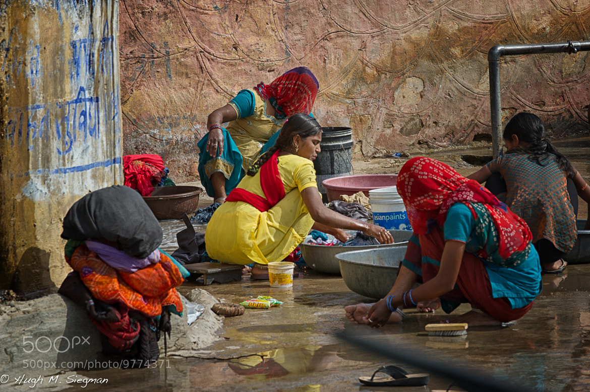 Photograph Clothes Washing 2, India by Hugh Siegman on 500px