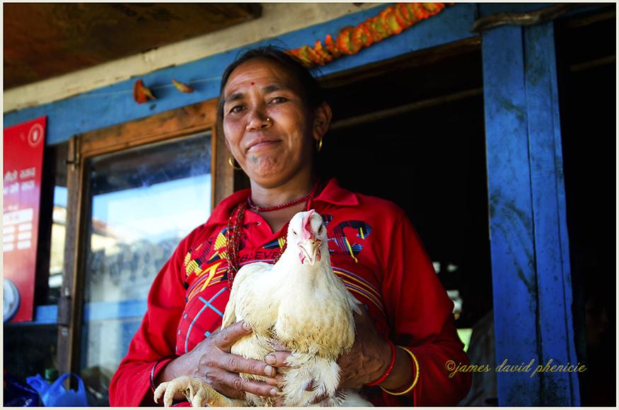 Nepal Series:  Chicken Lady