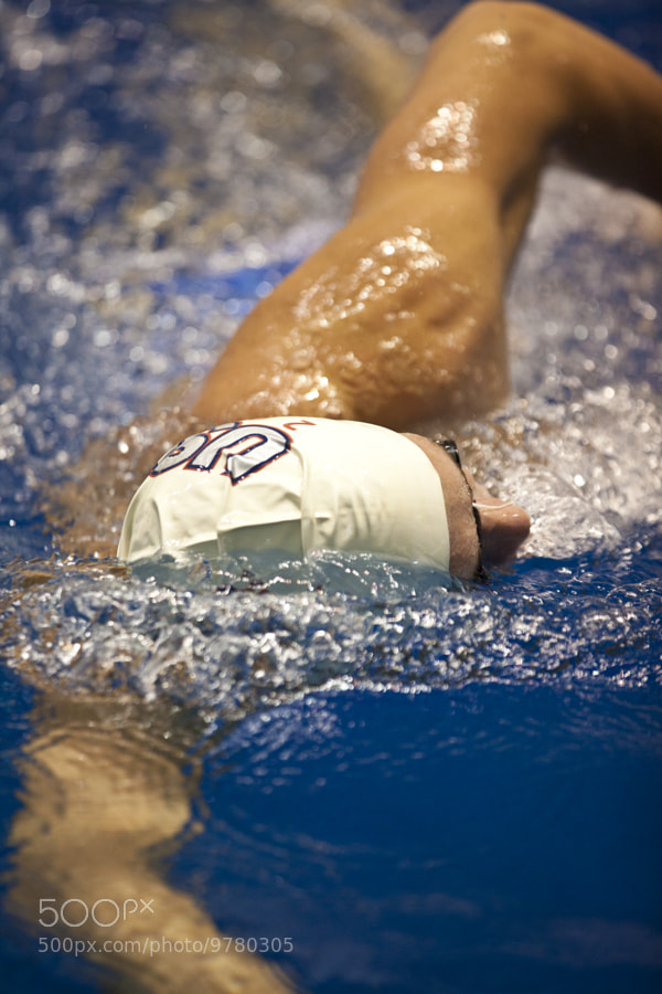 Ryan Lochte Practices with Team USA for 2012 Olympic games.