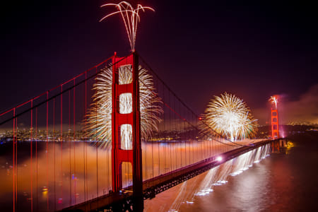 Golden Gate Bridge 75th Anniversary Fireworks by Janet Weldon on 500px