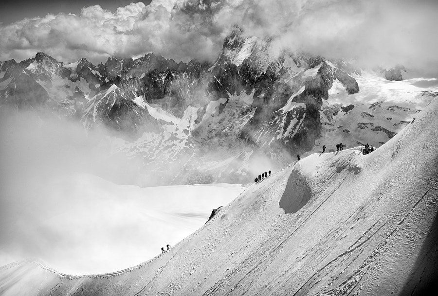 Photograph Alps: walking up, above the clouds by Dmitry Sumin on 500px