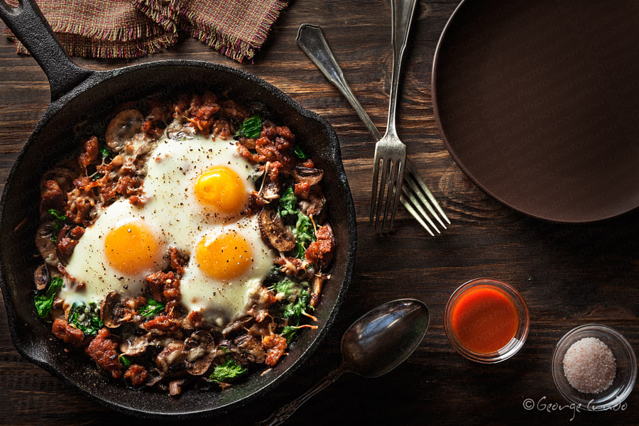 Spinach, Mushrooms and Egg Brunch by George Crudo on 500px.com
