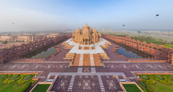 Photograph Swaminarayan Akshardham, Delhi, India by AirPano on 500px