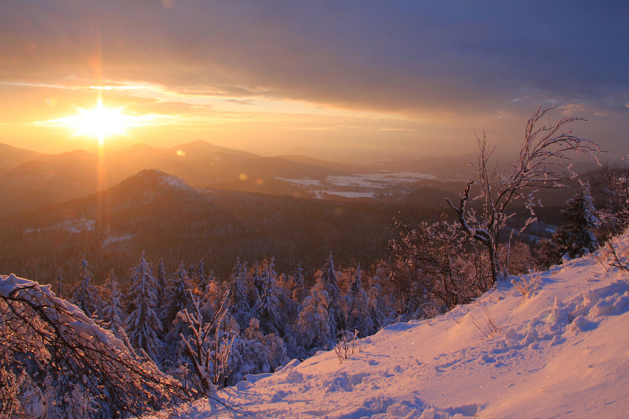 Winter sunset by Jens Beyer on 500px.com