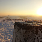 Постер, плакат: trig point @ shining tor 559m