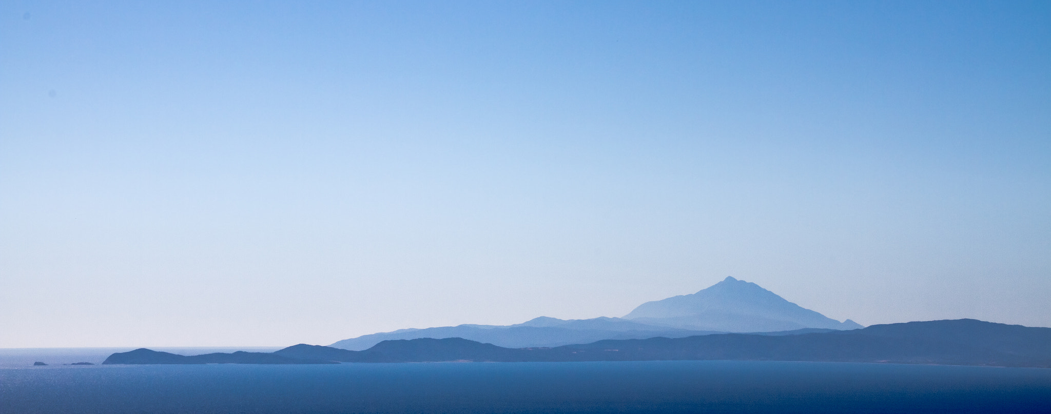Photograph Mt. Athos at sea by Ryan Opaz on 500px
