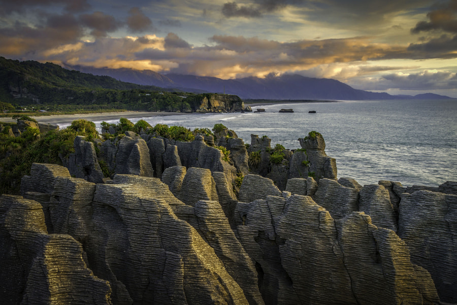 Photograph Sunset over the Pancake rocks by Martin Davies on 500px