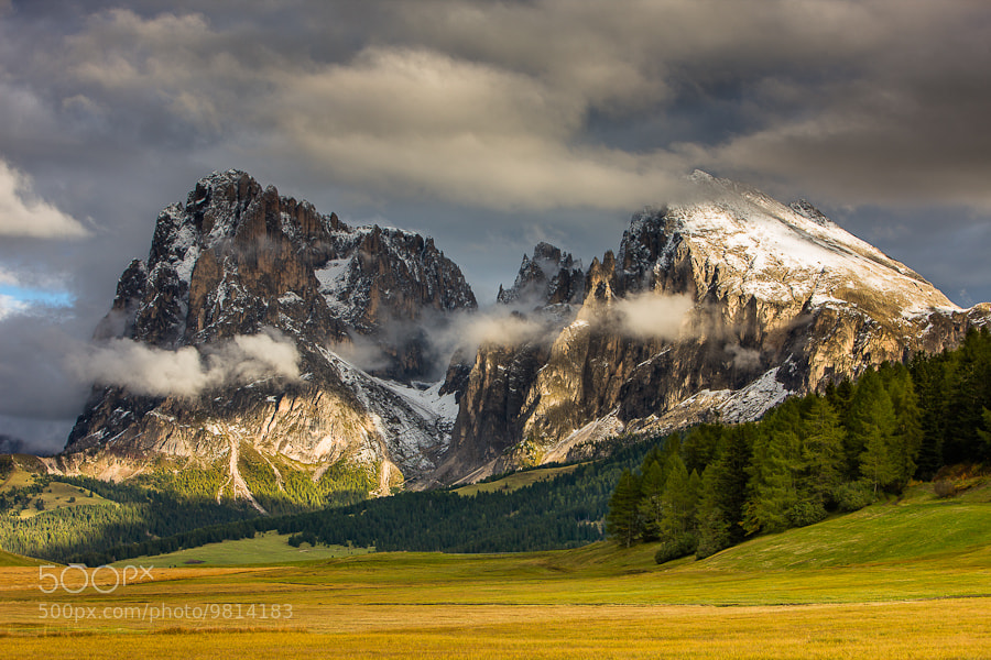 """<a href=""""http://www.hanskrusephotography.com/Workshops/Dolomites-Workshop-Oct-8-12-12/18012376_JfTs4d#!i=1960938639&k=kXdWFz7&lb=1&s=A"""">See a larger version here</a>  This photo was taken preparing a photo workshop that I led in the Dolomites in October 2010."""
