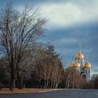 Постер, плакат: Church of All Saints at Mamayev Kurgan Храм Всех Святых на Мамаевом кургане