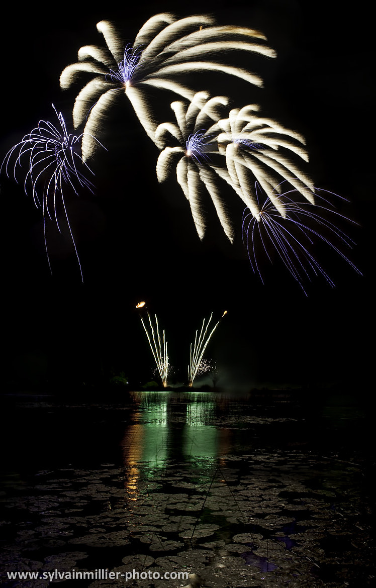 Photograph Fireworks over the lake by Sylvain Millier on 500px