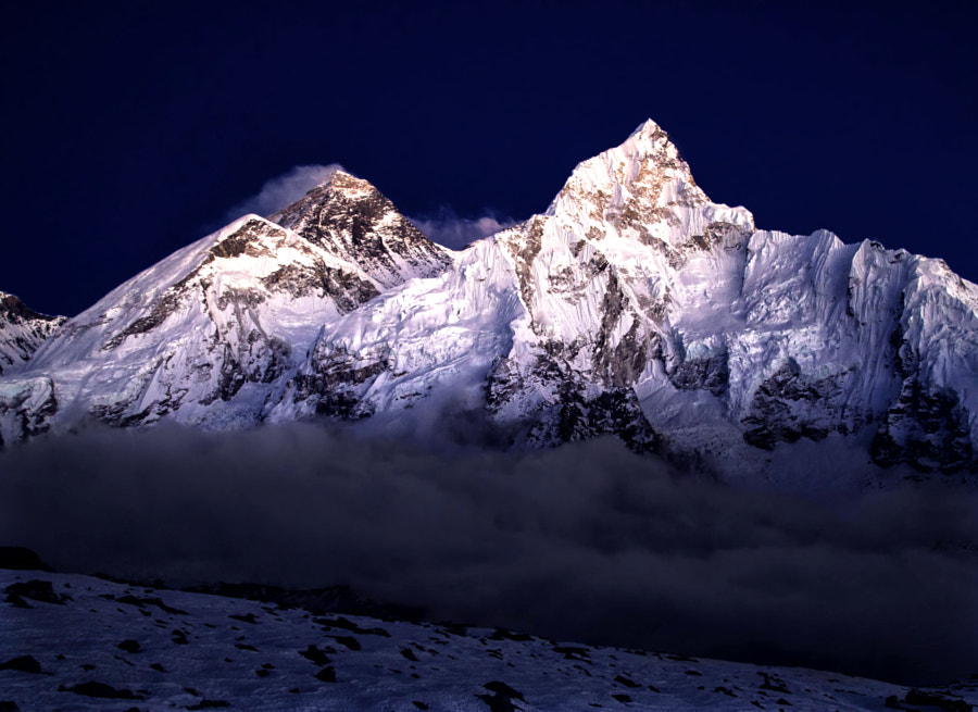 Mt. Everest at dusk by Gloomy One on 500px.com