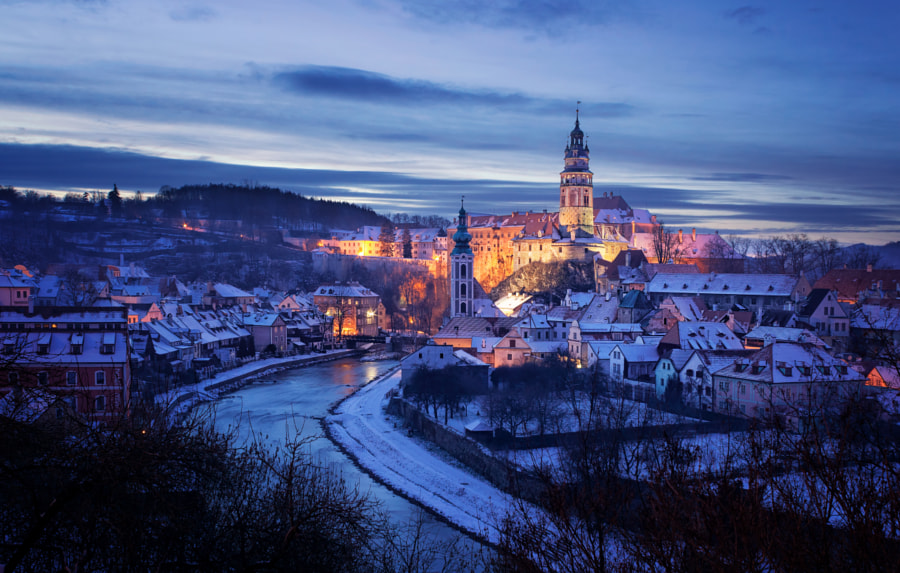 Magical Cesky Krumlov in Winter by Petr Kubát on 500px.com