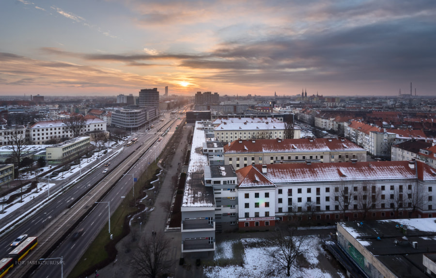 Sunset over Wroclaw