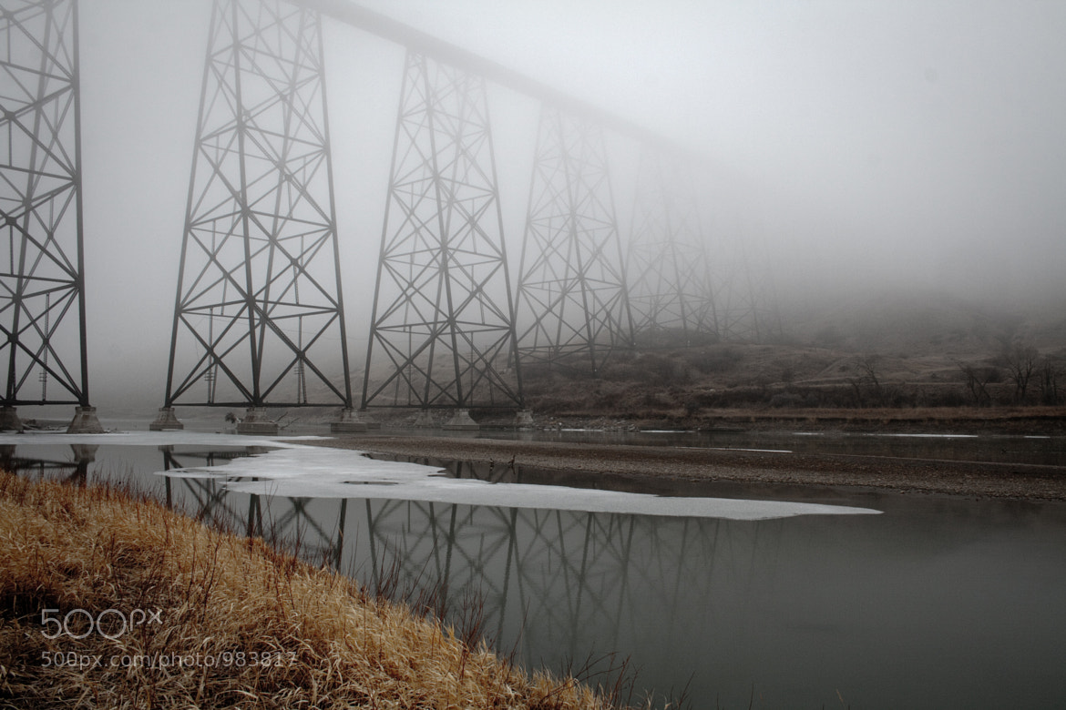Photograph Bridge in the Fog by Scott Van't Land on 500px