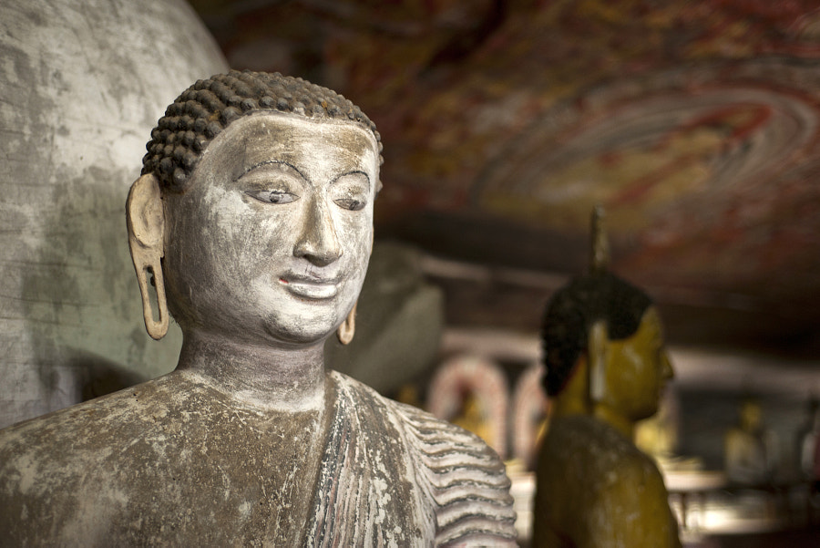 Buddha Statues at Dambulla Rock Temple, Sri Lanka by Borislav Stefanov on 500px.com