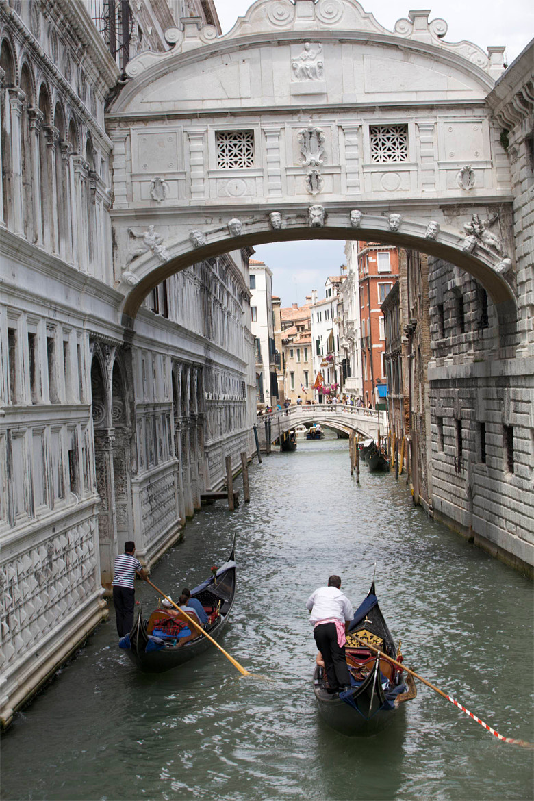 Photograph Gondolas Under the Bridge of Sighs, Venice by Jim Ranes on 500px