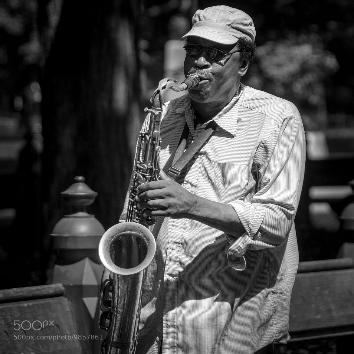 Photograph the central park sax player by Vit Vitali vinduPhoto on 500px