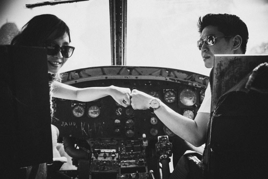 Gerald & Marjorie - Villamor Air Museum, Prenup