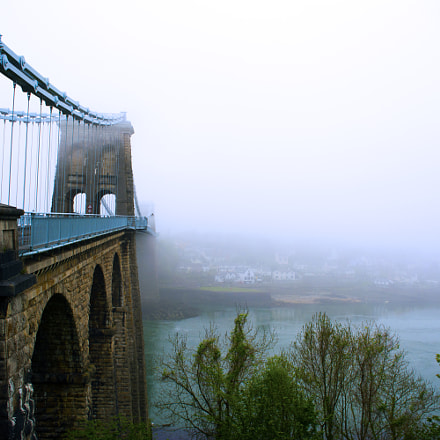 Menai Bridge in the fog