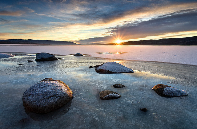 Photograph Tyrifjorden Winter Sunset by Anders Naesset on 500px