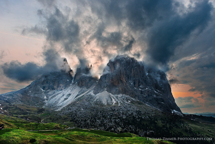 Photograph Sunset behind Langkofel by Thomas Zimmer on 500px