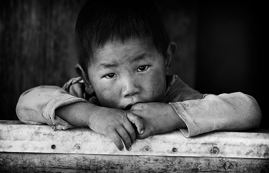 Photograph A boy from Tibet by Dmitry Sumin on 500px