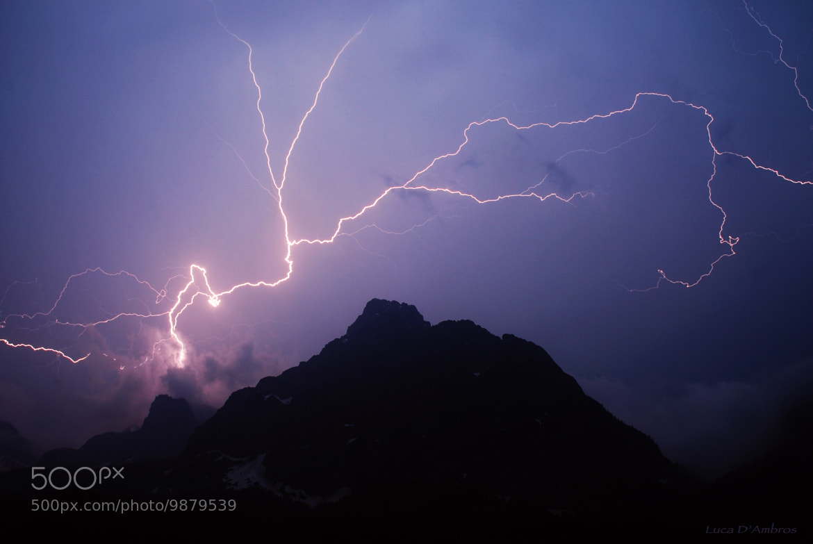 Photograph lightning night by Luca D'Ambros on 500px