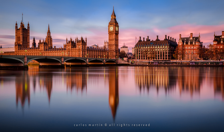 most beautiful cities in the world -London: Sunrise on the River Thames by Carlos Martín on 500px.com