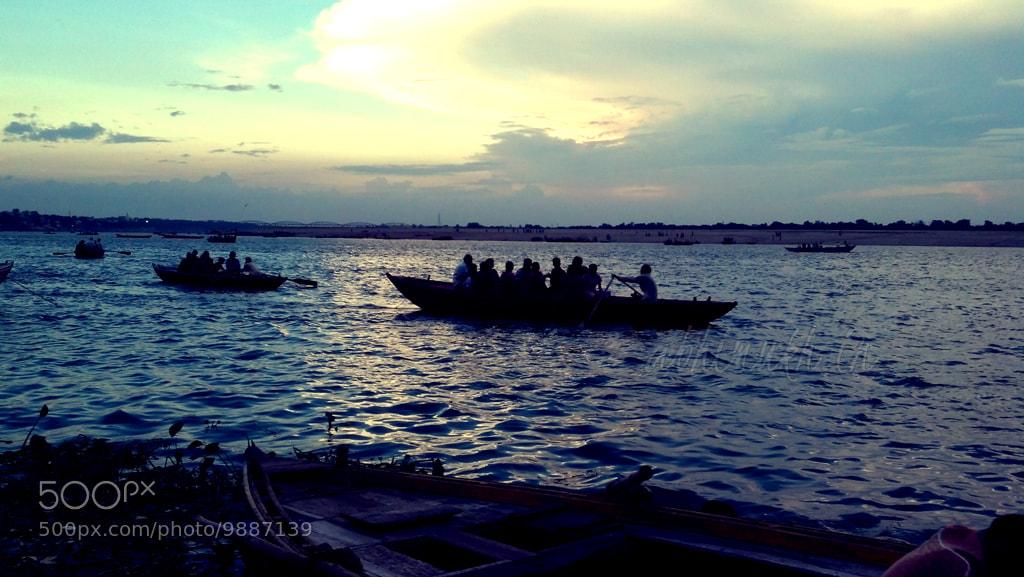 Photograph Evening Boat Ride in Benaras by Abhilash Mukherjee on 500px