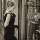 Old style in Florence, dreaming Audrey Hepburn