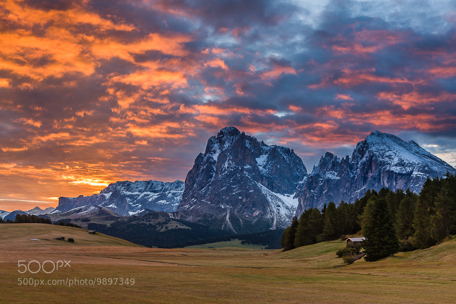 """<a href=""""http://www.hanskrusephotography.com/Workshops/Dolomites-Workshop-Oct-8-12-12/18012376_JfTs4d#!i=1962719964&k=Z9tPzNz&lb=1&s=A"""">See a larger version here</a>  This photo was taken preparing a photo workshop that I led in the Dolomites in October 2010."""