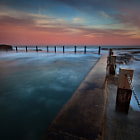 Stunning pastel colours greeted me during an evening shoot at Maroubra's Mahon Pool.  As the tide continued to rise, the fury intensified, making this apparently serene scene more dangerous.
