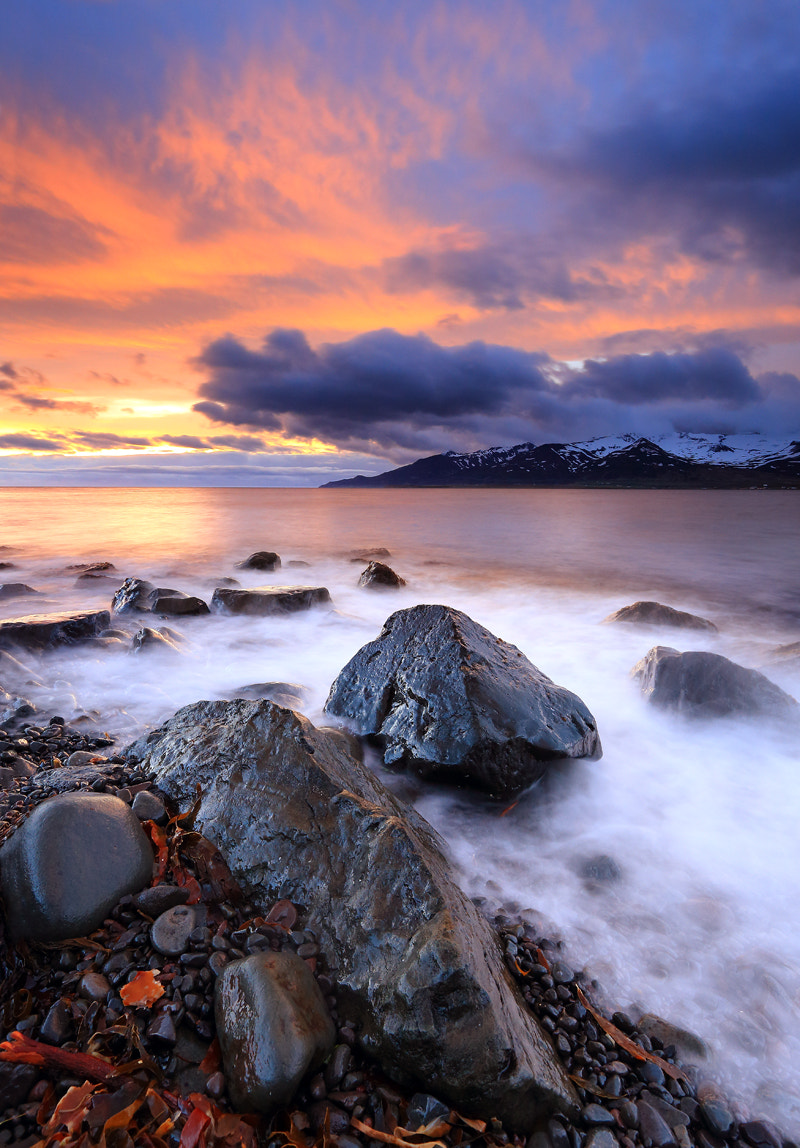 Photograph Summer night at the beach in Iceland by Jon Hilmarsson on 500px