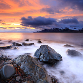 Summer night at the beach in Iceland by Jon Hilmarsson (Jonhilmarsson)) on 500px.com