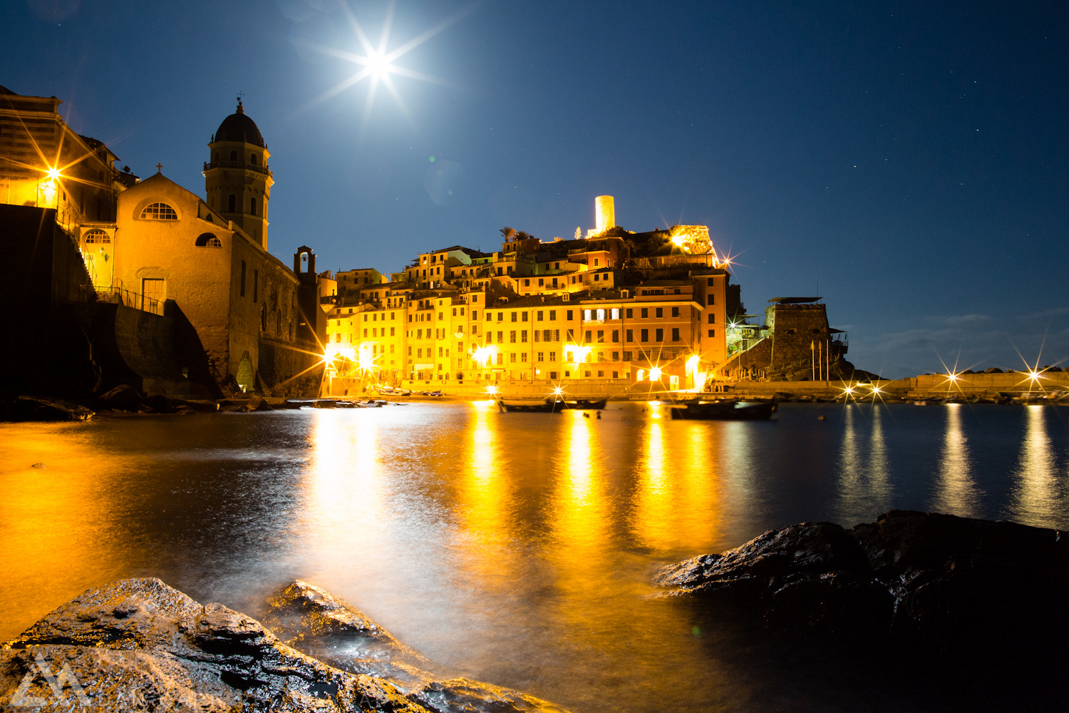 Photograph Moonrise Over Vernazza by Dan Carr on 500px